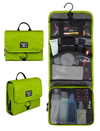 Bags mart Hanging Toiletry Kit Travel Bag Cosmetic Carry Case Makeup Organizer with Breathable Mesh Pockets Toiletry Kits   Bags