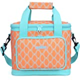 MIER Picnic Cool Bag Large Insulated Lunch Bag for Women and Men, 20 Can (Orange)