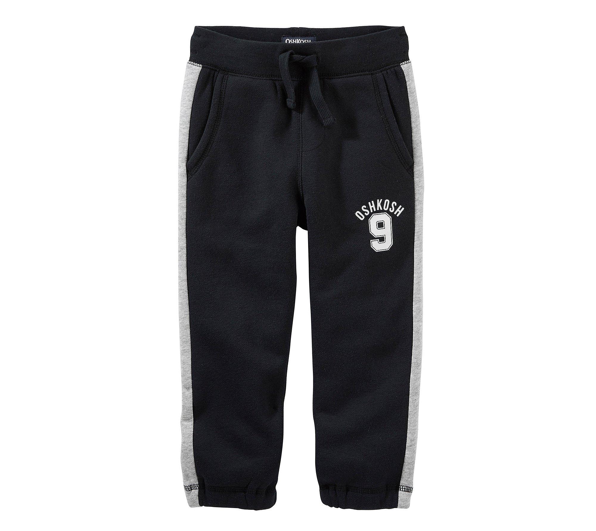 OshKosh B'Gosh Boys' 2T-7 Classic Fit Drawstring Pants Black 4T
