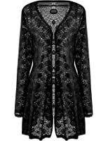 WearAll Women's Lace Open Cardigan at Amazon Women's Clothing store: