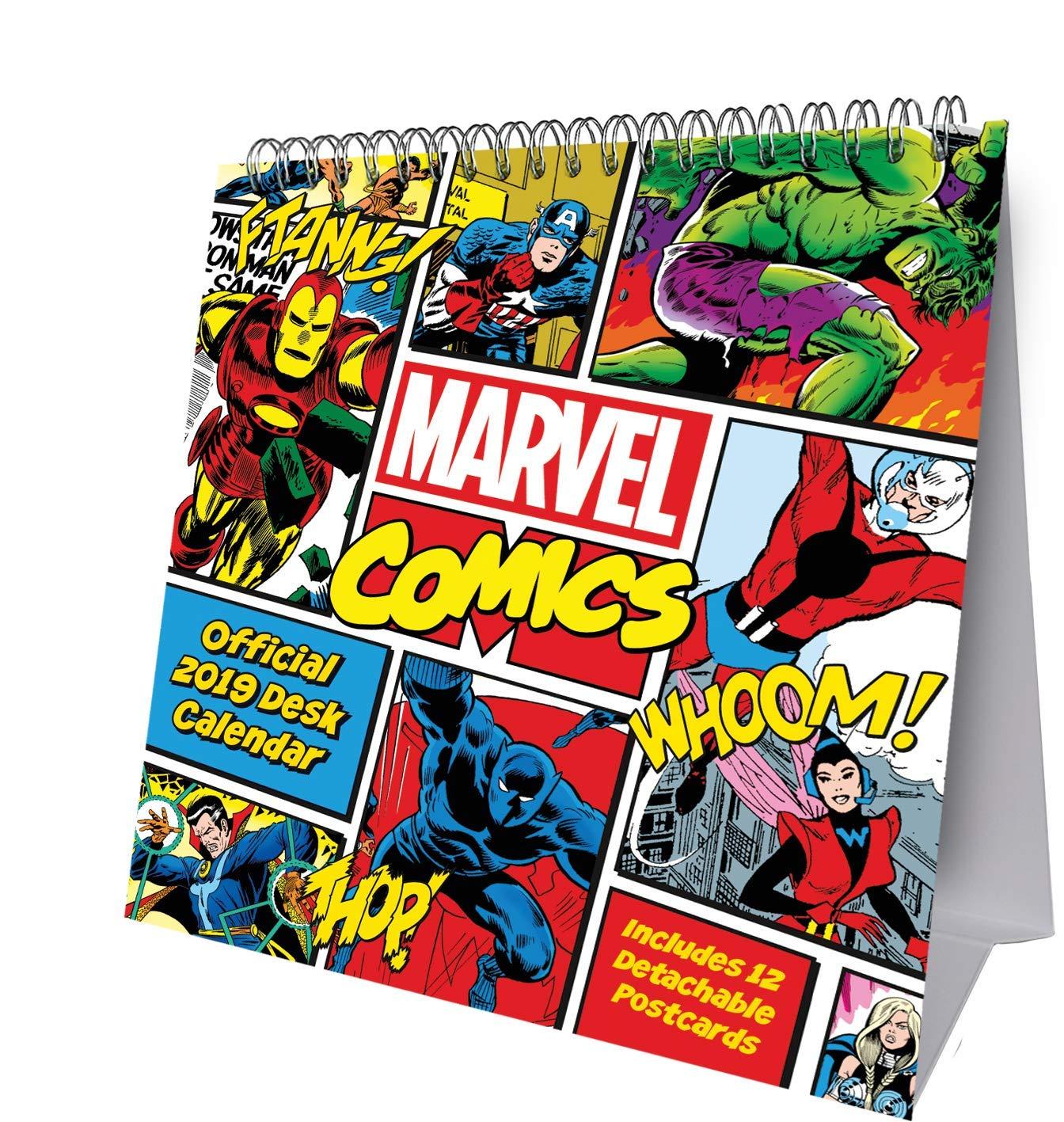 marvels avengers assemble wall calendar 2019