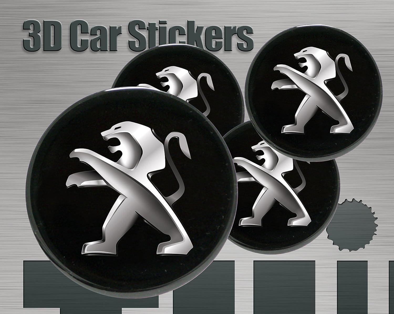 Adhesivos 3D Imitaci/ón Logo Nuevo Todo tama/ño Tapas de rueda 56 mm