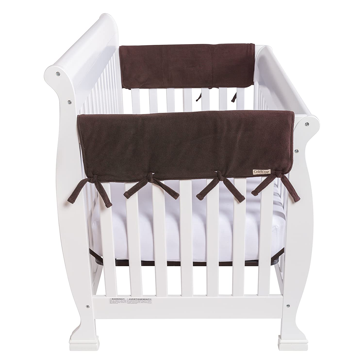 Trend Lab Gray Fleece CribWrap Wide Rail Cover for Crib Sides, Gray 109072