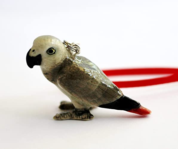 Image Unavailable - Amazon.com: African Grey Parrot Christmas Ornament Small Porcelain