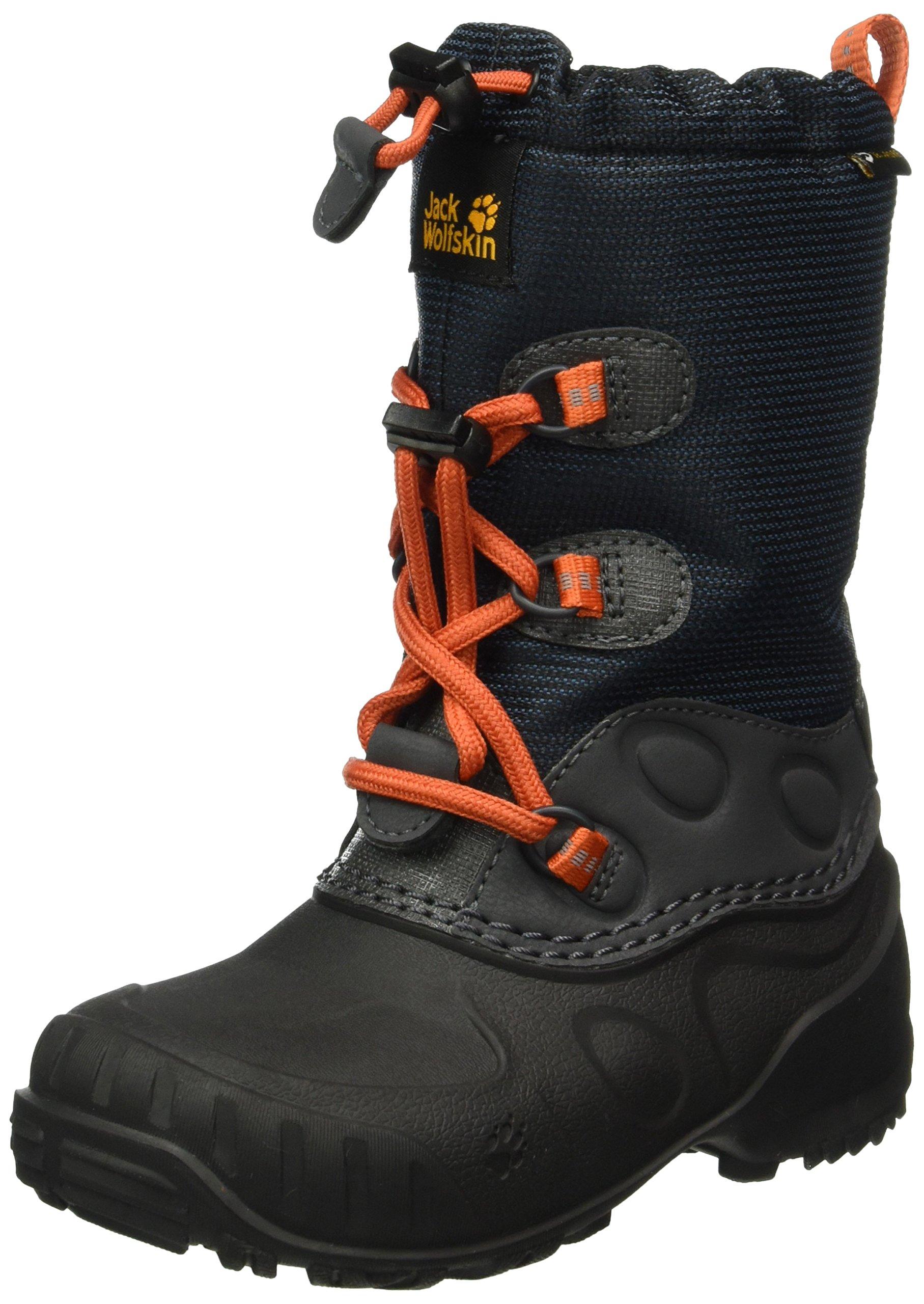 Jack Wolfskin Unisex-Kids Iceland Texapore High K Snow Boot, Dark Sky, 3.5 M US Little Kid