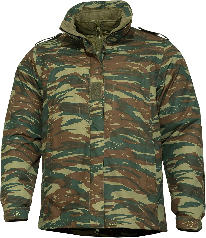 Greek Army Issue Lizard Print Combat Jacket//Shirt New
