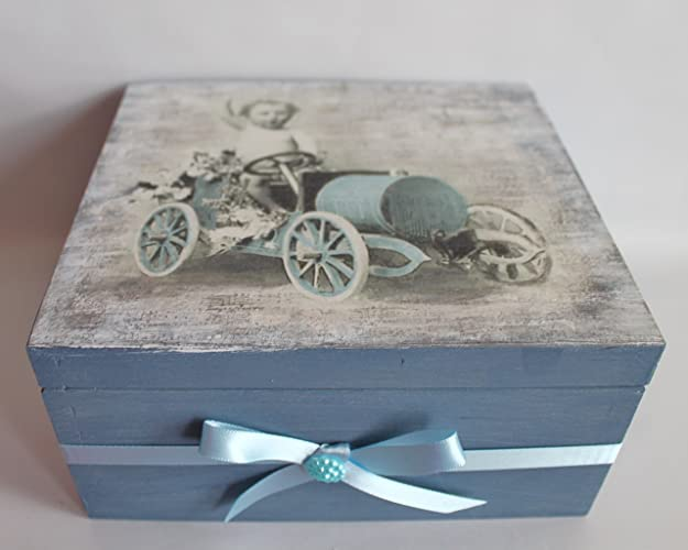 Gift For Boys Birthday Him Decoupage Box Wooden Keepsake