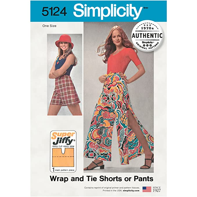 1960s – 70s Sewing Patterns- Dresses, Tops, Pants, Mens Simplicity Creative Patterns UV5124OS Shorts or Pants One Size $9.92 AT vintagedancer.com