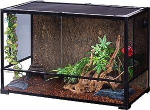 REPTI ZOO 67 Gallon Reptile Glass Terrarium,Double Hinge Door with Screen Ventilation Reptile Terrarium 36