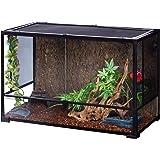 "REPTI ZOO 67 Gallon Reptile Glass Terrarium,Double Hinge Door with Screen Ventilation Reptile Terrarium 36"" x 18"" x 24""(Knock"
