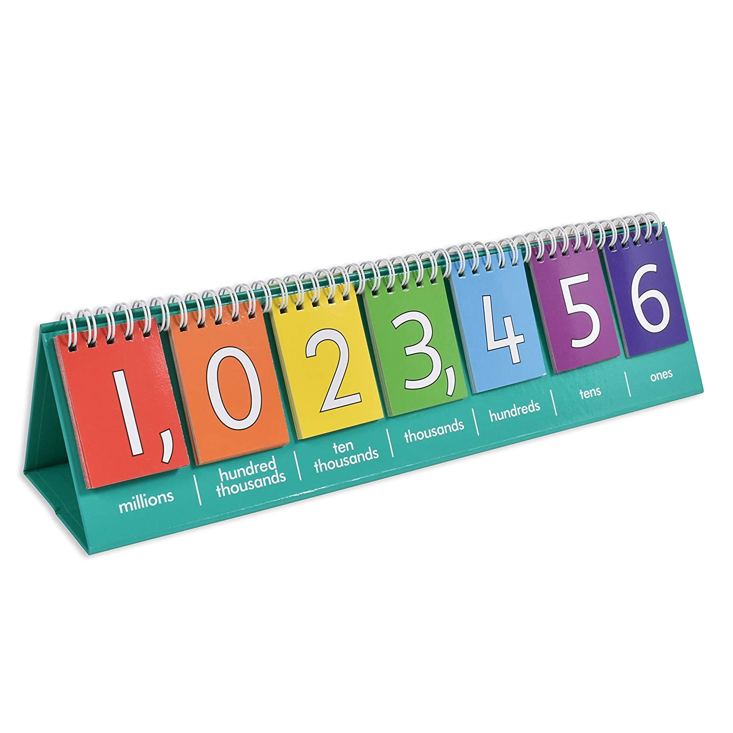 Tens Millions Edx Education Student Place Value Flip Chart Hundreds Double-Sided with Whole Numbers and Decimals Learn to Count by Ones Thousands and Millions