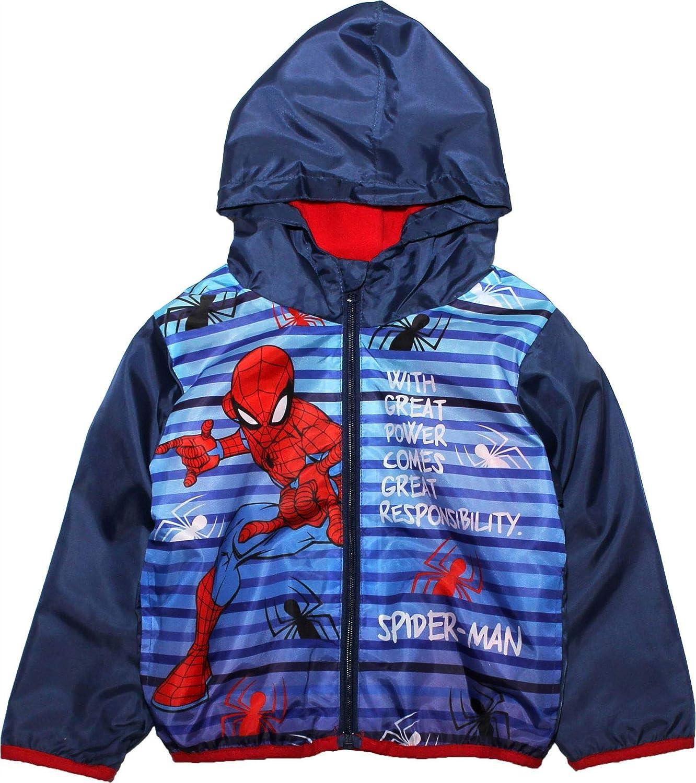Spiderman Marvel Boys Zip Hoodie Rain Jacket Coat