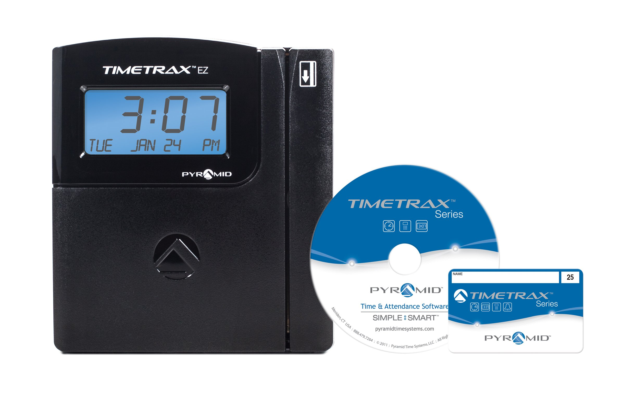 Pyramid TimeTrax TTEZEK Automated Swipe Card Time Clock System with Software - Made in USA
