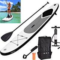 GEEZY Inflatable 320 cm SUP Stand Up Paddle Board with Adjustable Paddle, Ankle Strap, Pump & Carry Bag Water Sport Paddleboarding