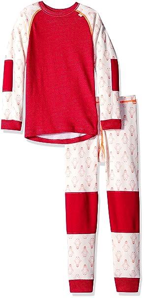 c501599b Helly Hansen Kids LIFA Merino Wool Warm Baselayer Set Top and Bottom, 183  Persian Red