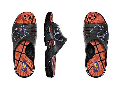 amazon com kansas jayhawks ncaa basketball slides sports outdoors