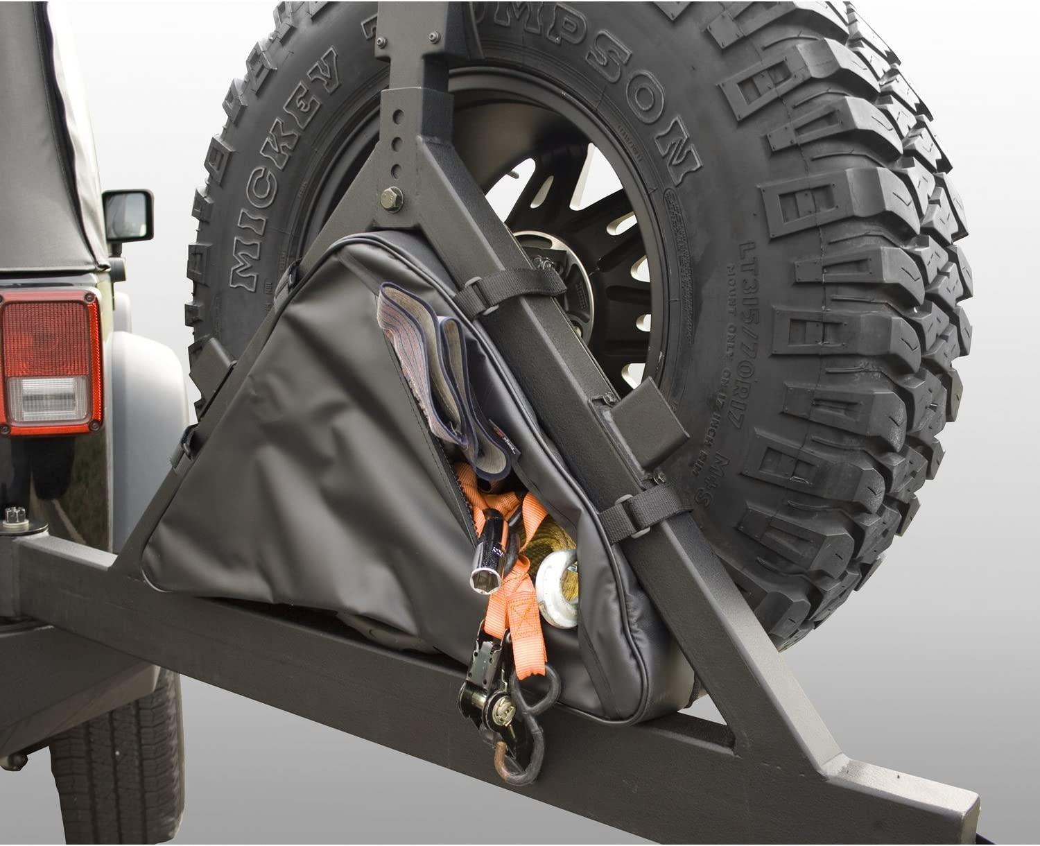 Rugged Ridge 12801.50 Black Tire Carrier Recovery Bag