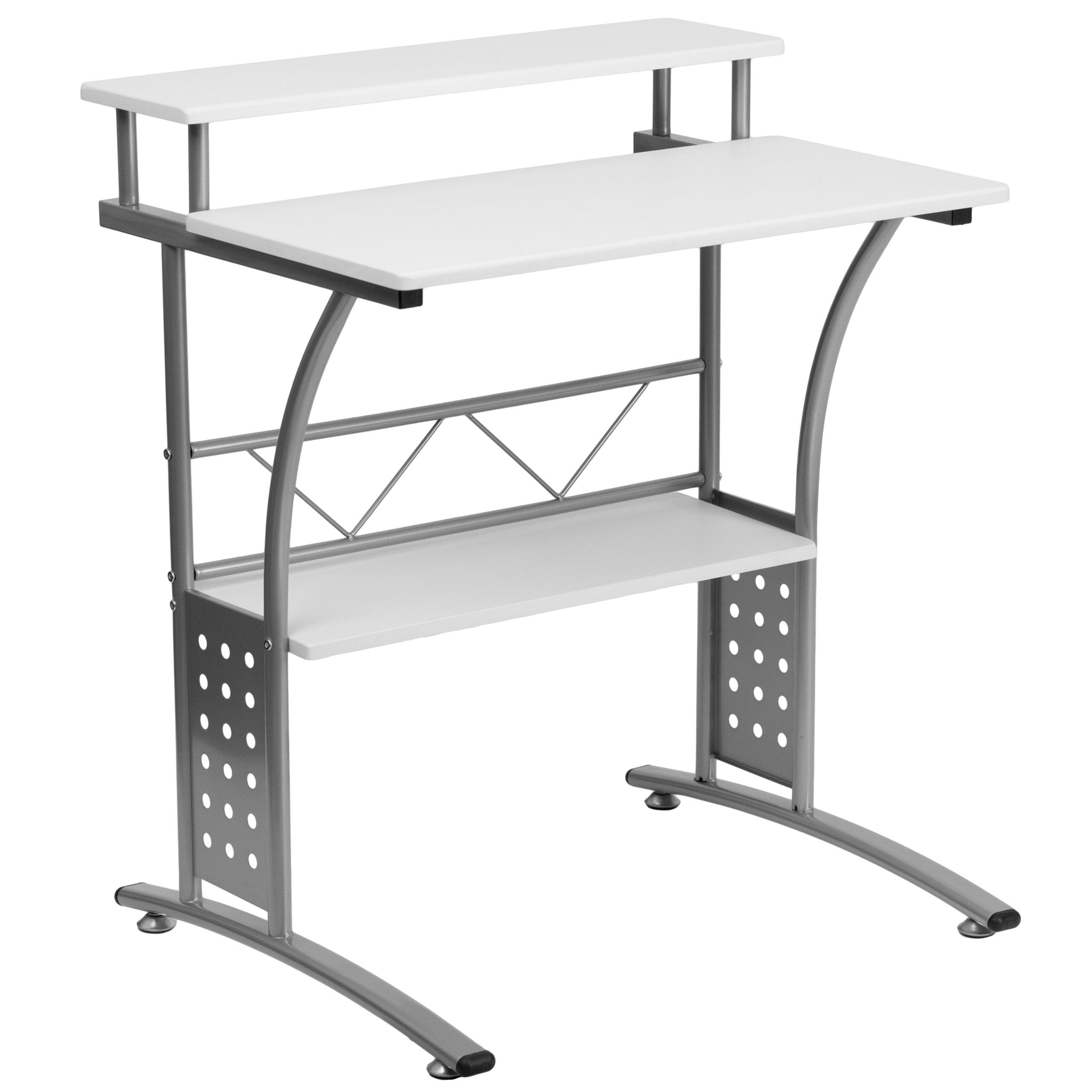 Flash Furniture Clifton White Computer Desk by Flash Furniture