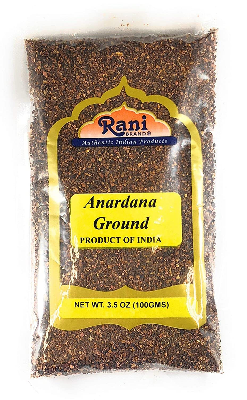 Rani Anardana (Pomegranate) Ground, Indian Spice 3.5oz (100g) ~ All Natural | No Color | Gluten Free Ingredients | Vegan | NON-GMO | No Salt or fillers