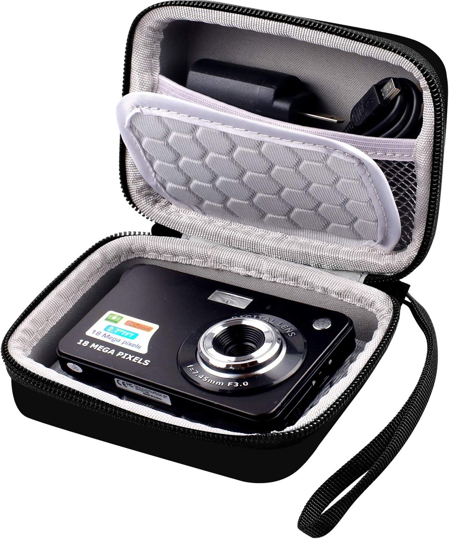 Bolsa para cámara Digital Compatible con AbergBest de 21 megapíxeles LCD de 2,7 Pulgadas Recargable HD cámara de vídeo Digital para Estudiantes, Interior y Exterior para Adultos y niños: Amazon.es: Electrónica