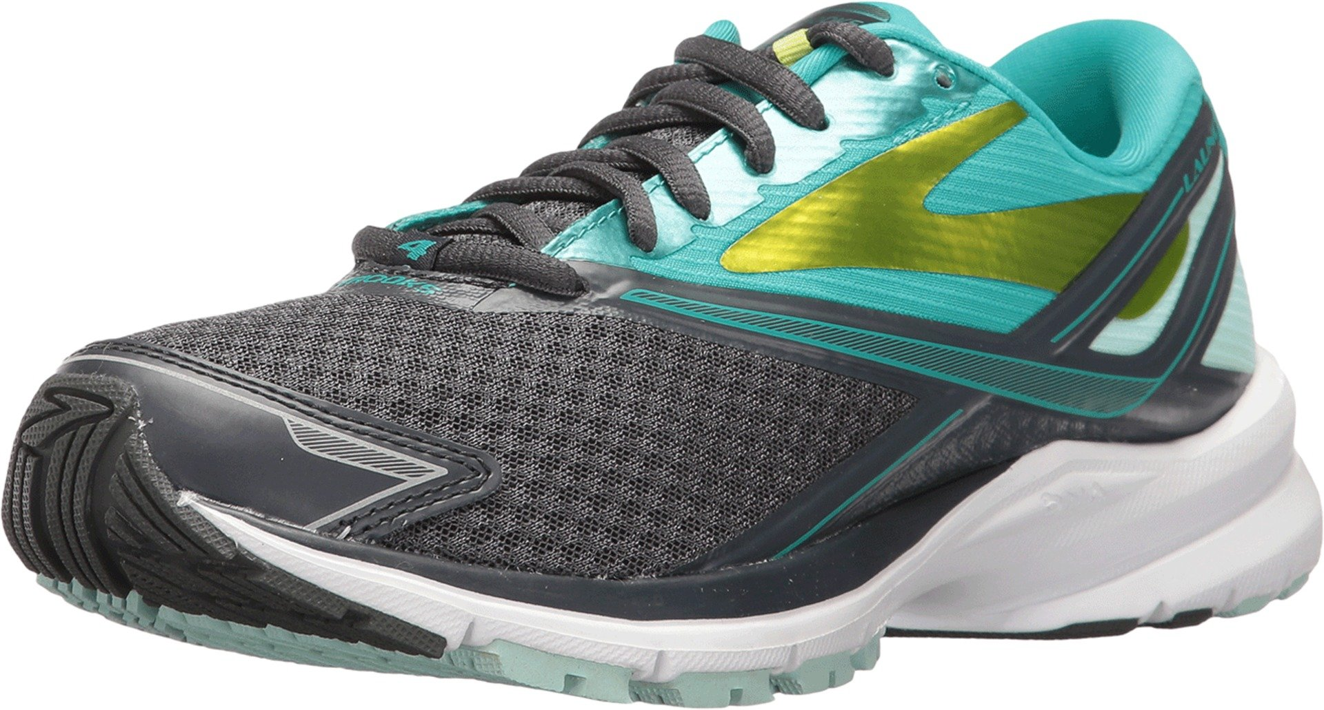 Brooks Womens Launch 4 Running Sneaker Shoe, Anthracite/Ceramic/Lime Punch, 10 by Brooks