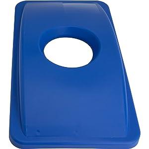 Genuine Joe 98219 23-Gal Recycling Bin Round Cutout Lid