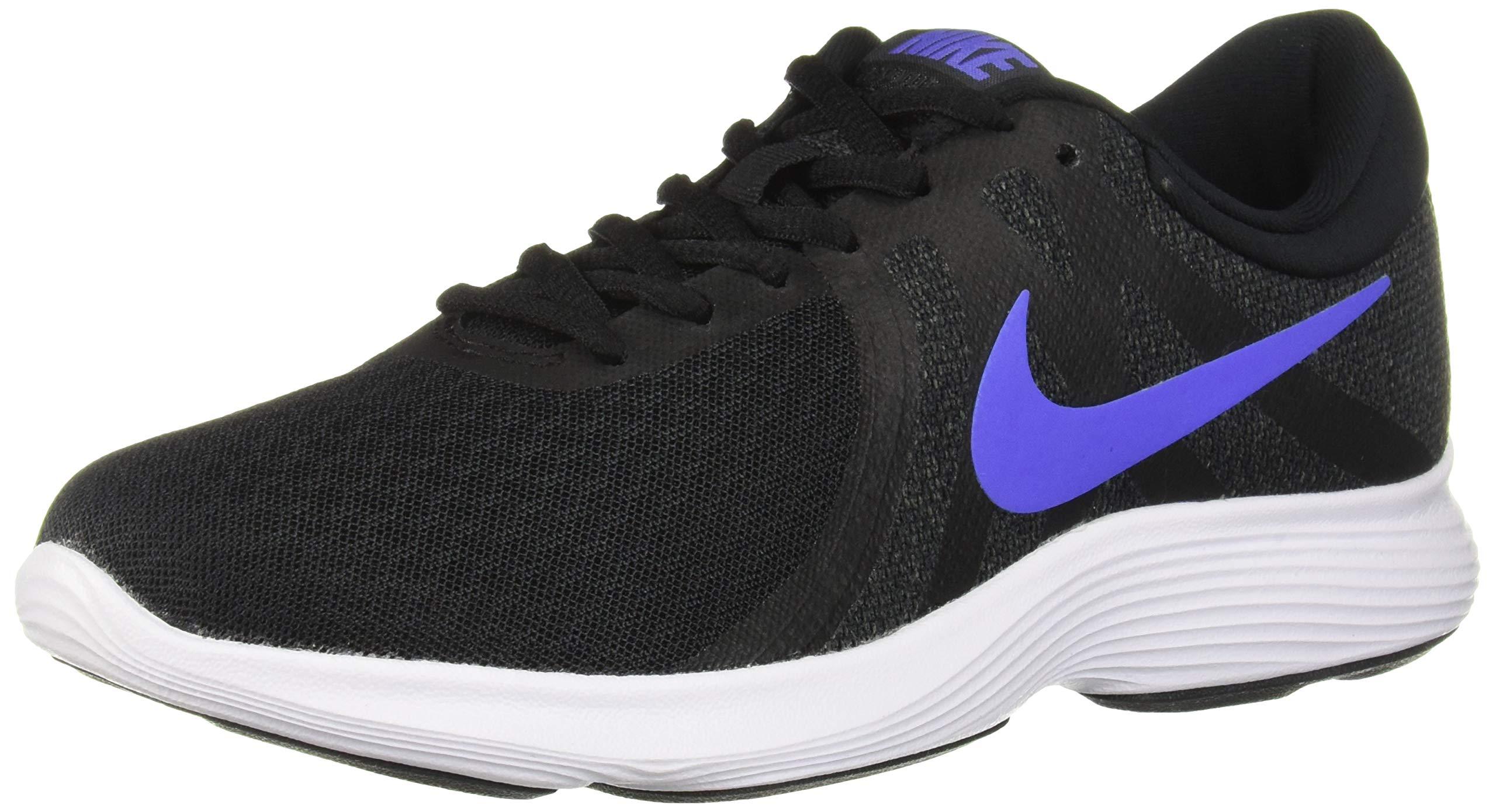 Nike Women's Revolution 4 Running Shoe, Black/Sapphire-Anthracite-White, 5 Regular US