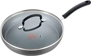 T-fal Nonstick Dishwasher Safe Cookware Lid Fry Pan, 10-Inch, Black