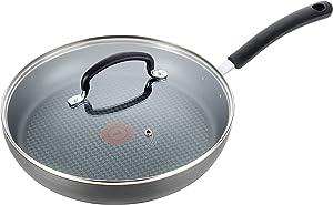 T-fal Nonstick Dishwasher Safe Cookware Lid Fry Pan, 10-Inch, Black