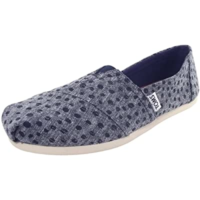TOMS Women's Classic Slub Chambray Ankle-High Canvas Slip-On Shoes | Walking