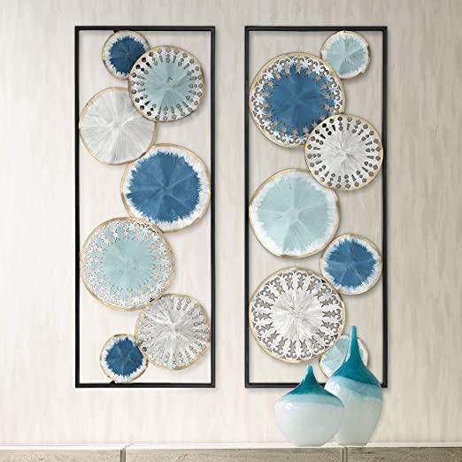 Wall Picture Or Sculpture Metal Wall Art Metallic Abstract Solar Discs