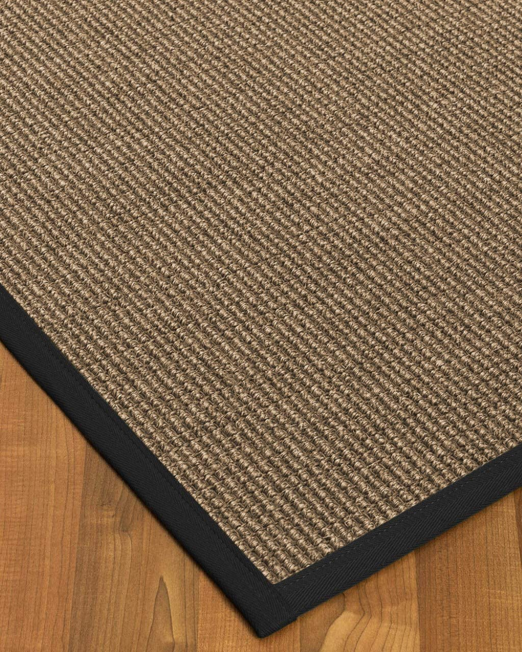 Natural Area Rugs 100 Natural Fiber Handmade Sandstone, Brown Sisal Rug, 2 x 3 Black Border