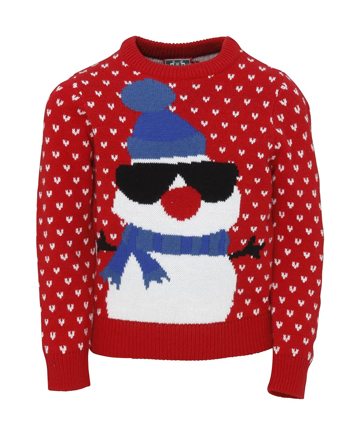 Kids Snowman Christmas Jumper - Age 3-13 Years