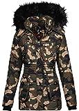 Marikoo Designer Damen Winter Jacke Parka Mantel Teddyfell warm gefüttert B368