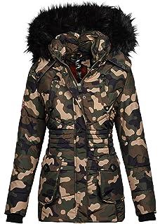 Marikoo Designer Damen Winter Jacke Parka Mantel Teddyfell warm gefüttert  B368 087dc82811