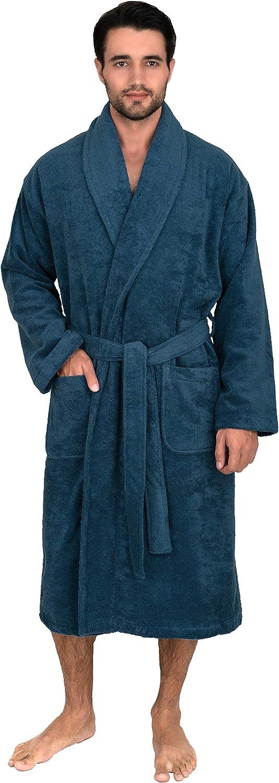 TowelSelections Men's Robe, Turkish Cotton Luxury Terry Shawl Bathrobe