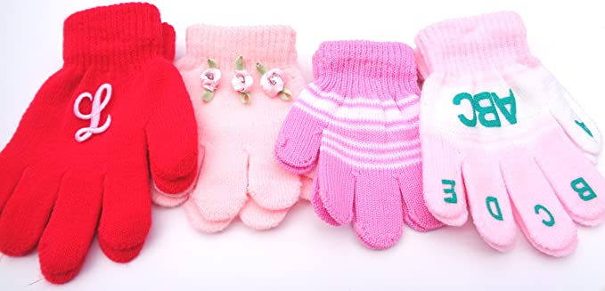 Set of Four Pairs Magic Gloves for Infant Boys and Toddlers Ages 1-4 Years Baby Boys Gloves & Mittens