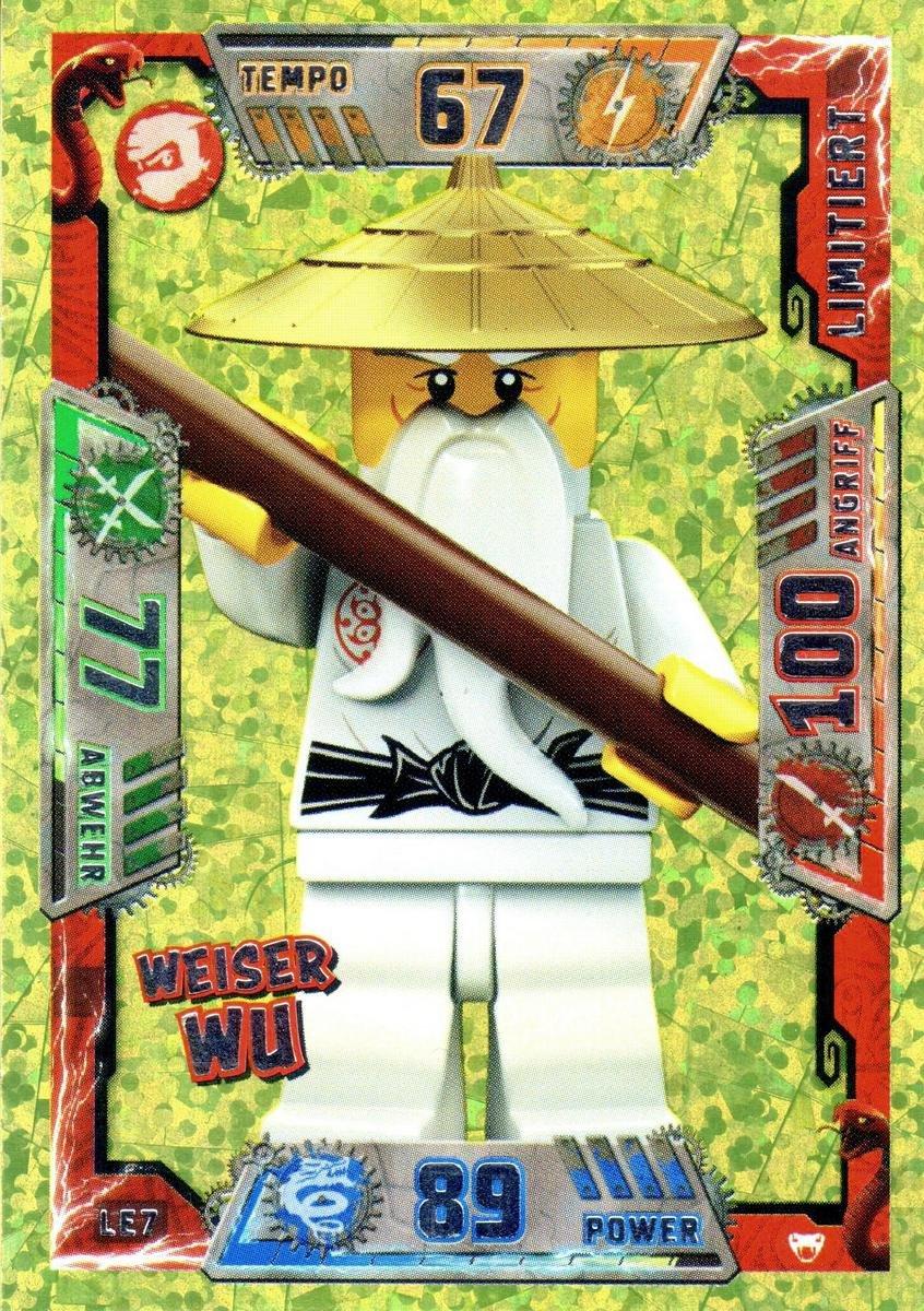 LEGO Ninjago Serie 2 Legendärer Sensei Wu Weiser Wu LE7 limitierte ...