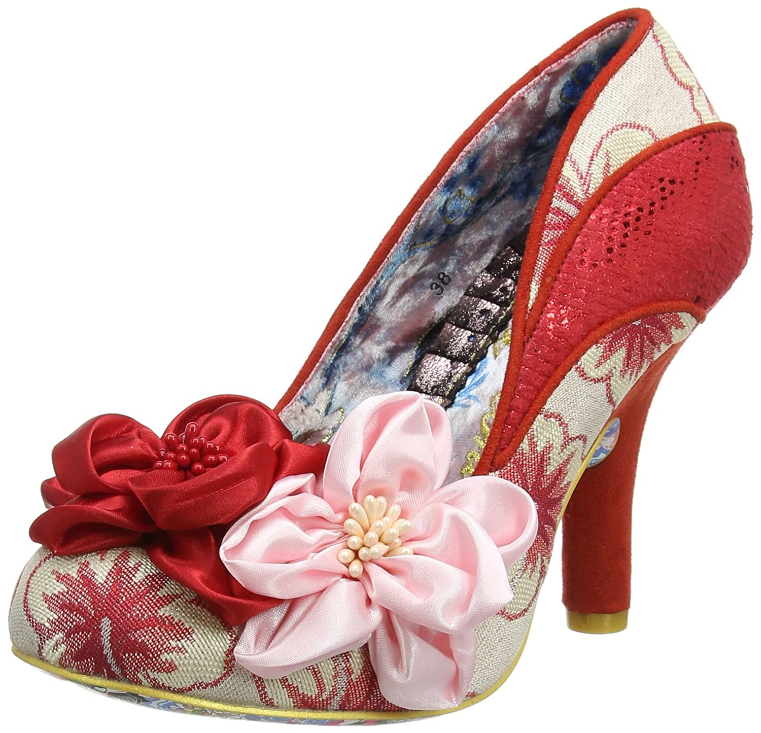 Rot (rot Rosa E) Irregular Choice Damen Peach Melba Pumps, Rosa