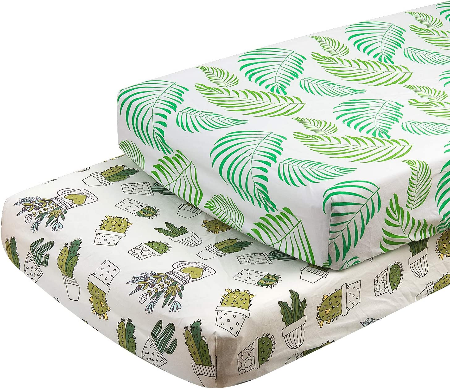 ALVABABY Cradle Mattress 100/% Organic Cotton Soft and Light Baby Changing Pad Cover for Boys and Girls Cactus and avocado 2TWCZ09-CA