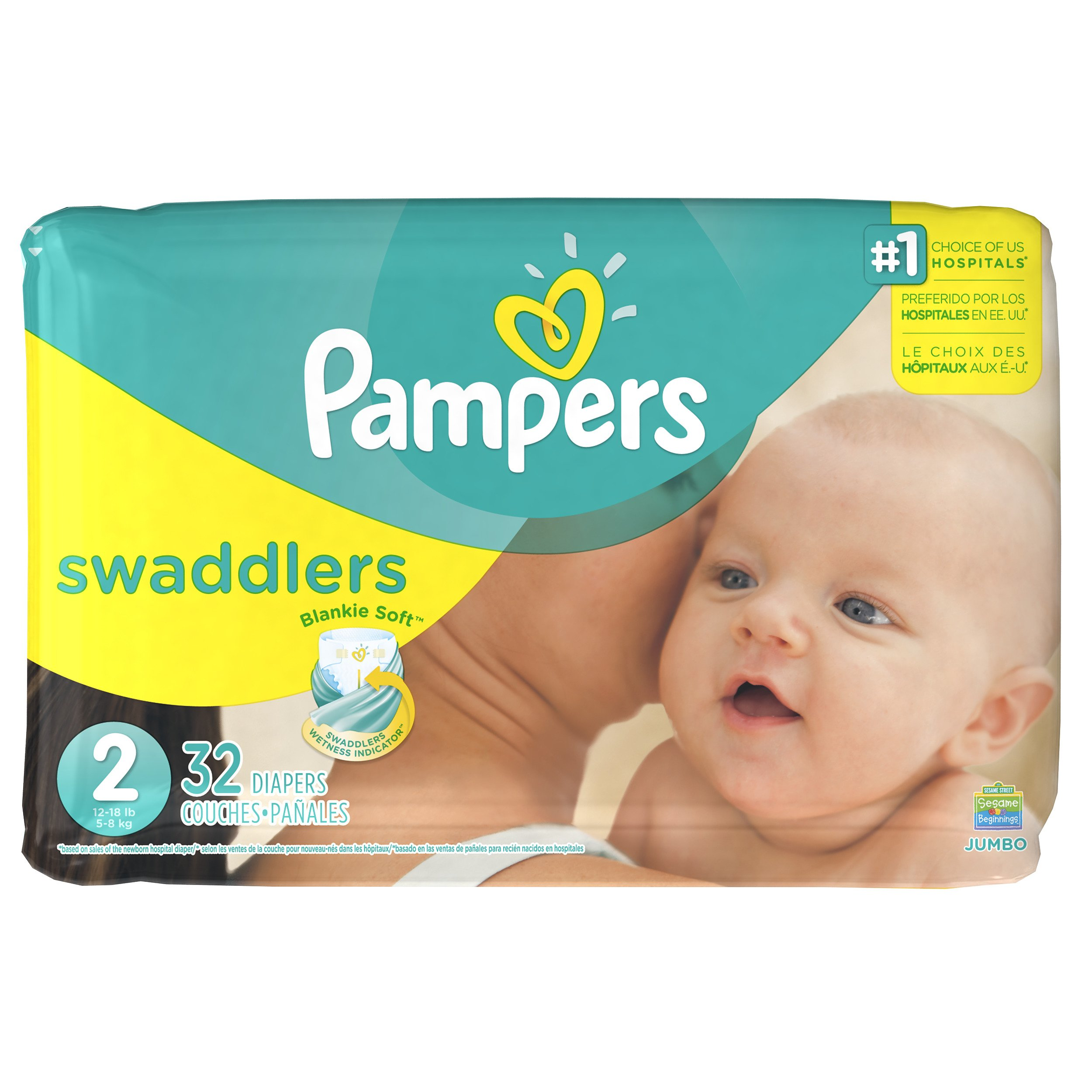 Galleon - Pampers Swaddlers Disposable Diapers Size 2, 32 ...