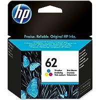 HP 62 Cartouche d'Encre Trois Couleurs (Cartouche Cyan, Magenta, Jaune) Authentique (C2P06AE)
