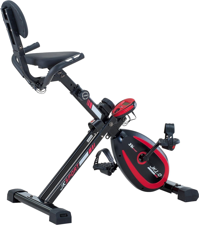 JK FITNESS jk1.0 X-Bike brx-rcomfort magnético, Negro/Rojo: Amazon ...