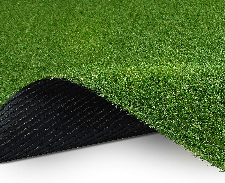 Deko /• 200x300 cm Terrasse 26 mm /• Kunstrasenteppich wasserdurchl/ässig /& UV-best/ändig /• Garten casa pura Kunst-Rasen in 6 H/öhen /• Nat/ürlich weich in Echtrasen-Optik /• Rasen-Teppich Marbella