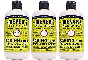 Mrs. Meyer's Baking Soda Cream Cleaner, Lemon Verbena, 12 OZ (Pack - 3)