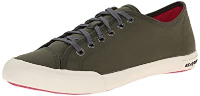 SeaVees Women's 08/61 Army Issue Low Nylon Fashion Sneaker, Olive, ...