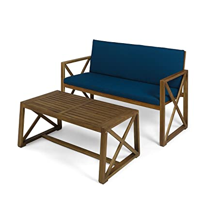 Outstanding Amazon Com Great Deal Furniture Hazel Outdoor Acacia Wood Unemploymentrelief Wooden Chair Designs For Living Room Unemploymentrelieforg