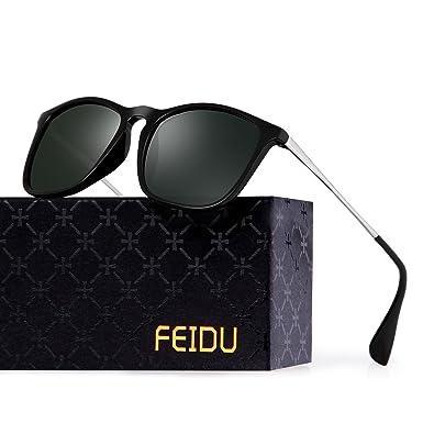 Amazon.com: feidu Classic marca Wayfarer polarizadas ...