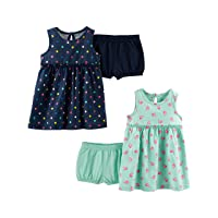 Simple Joys by Carter's Baby and Toddler Girls' 2-Pack Short-Sleeve and Sleeveless...
