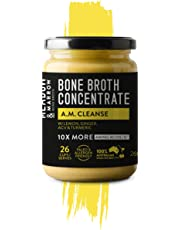 AM Cleanse - Performance Beef Bone Broth Concentrate Range - 260 Grams - Cleanse, Detoxifying, Boost Immune with Super Foods - Lemon, Ginger, Turmeric, Apple Cider Vinegar